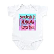 Somebody In Alabama Loves Me! Infant Creeper