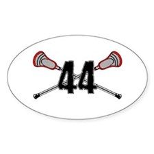 Lacrosse Number 44 Decal