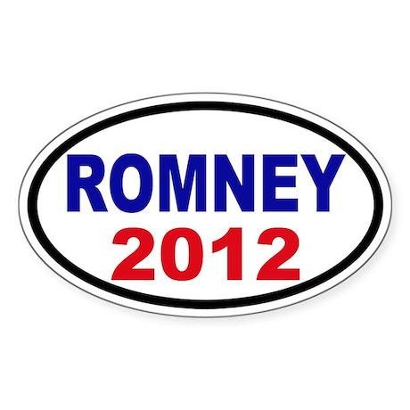 Mitt Romney 2012 Sticker (Oval)
