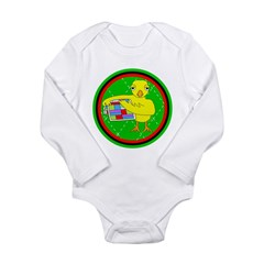 Quilting Chick Circle Long Sleeve Infant Bodysuit