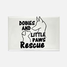 Cool Doberman rescue Rectangle Magnet