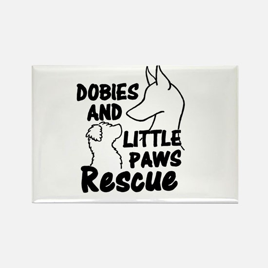 Funny Doberman pinscher rescue Rectangle Magnet