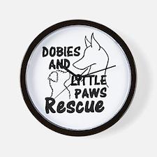 Doberman rescue Wall Clock