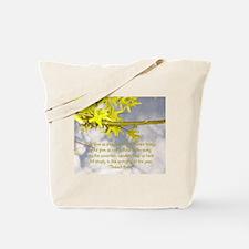 Spring Flowers & Poem Tote Bag