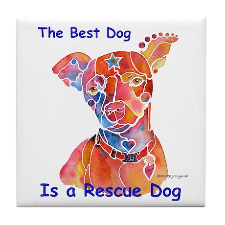 Adopt a Shelter Dog Tile Coaster