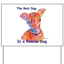 Adopt a Shelter Dog Yard Sign