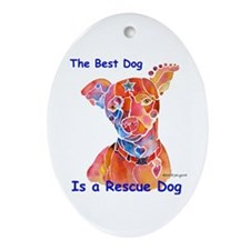 Adopt a Shelter Dog Ornament (Oval)
