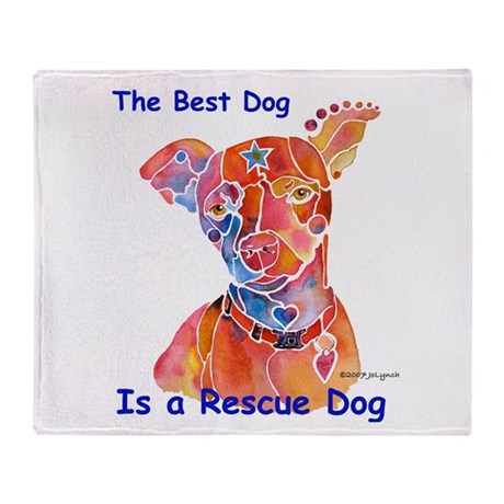 Adopt a Shelter Dog Throw Blanket