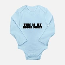 This is My Udder Shirt Long Sleeve Infant Bodysuit
