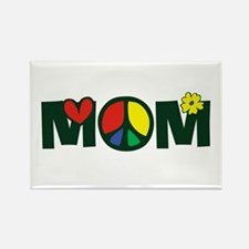 Peace Mom Rectangle Magnet (100 pack)