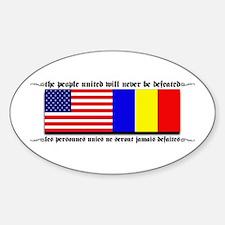 USA - Chad Oval Decal