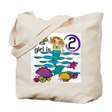 Mermaid 2nd Birthday Tote Bag
