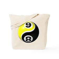 8 Ball 9 Ball Yin Yang Tote Bag