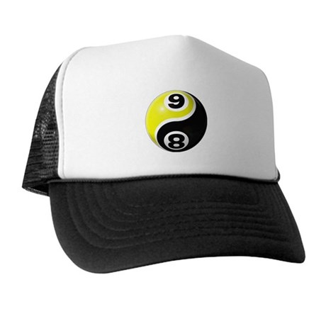 8 Ball 9 Ball Yin Yang Trucker Hat