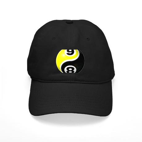 8 Ball 9 Ball Yin Yang Black Cap