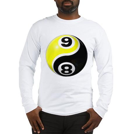 8 Ball 9 Ball Yin Yang Long Sleeve T-Shirt