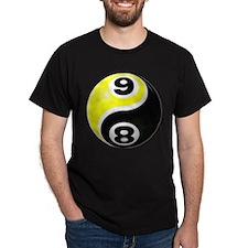8 Ball 9 Ball Yin Yang T-Shirt