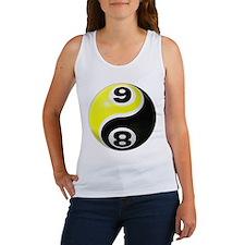 8 Ball 9 Ball Yin Yang Women's Tank Top