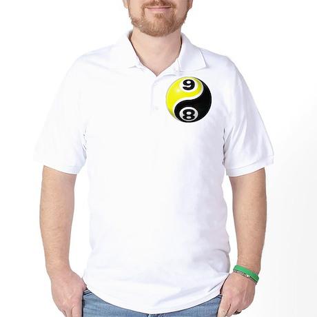 8 Ball 9 Ball Yin Yang Golf Shirt