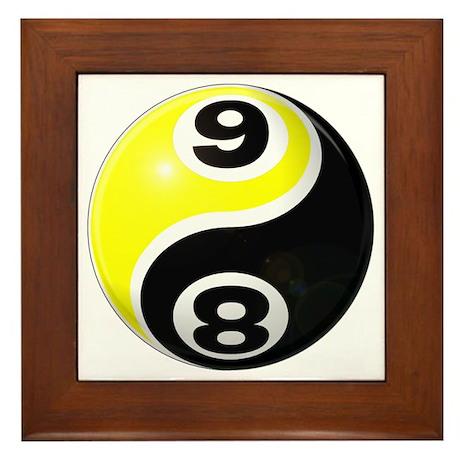 8 Ball 9 Ball Yin Yang Framed Tile