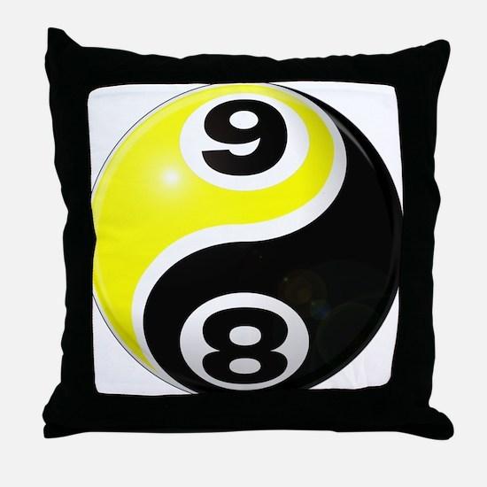8 Ball 9 Ball Yin Yang Throw Pillow