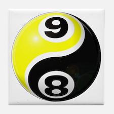 8 Ball 9 Ball Yin Yang Tile Coaster