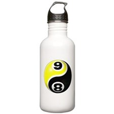 8 Ball 9 Ball Yin Yang Water Bottle