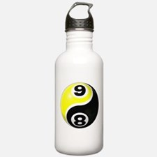 8 Ball 9 Ball Yin Yang Water Bottle