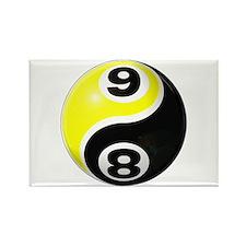 8 Ball 9 Ball Yin Yang Rectangle Magnet