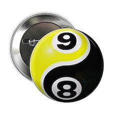 "8 Ball 9 Ball Yin Yang 2.25"" Button"