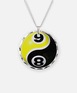 8 Ball 9 Ball Yin Yang Necklace