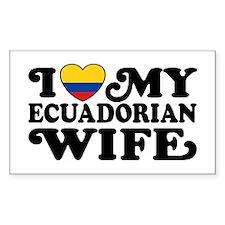 Ecuadorian Wife Decal