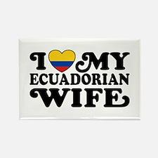Ecuadorian Wife Rectangle Magnet