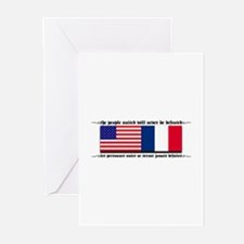 USA - France Greeting Cards (Pk of 10)