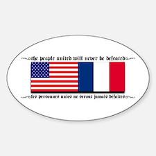 USA - France Oval Decal