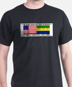 USA - Gabon Black T-Shirt