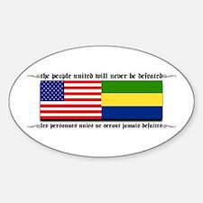 USA - Gabon Oval Decal