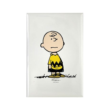 Charlie Brown Rectangle Magnet