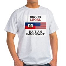Haitian Immigrant Ash Grey T-Shirt