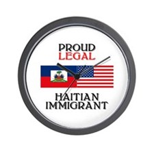 Haitian Immigrant Wall Clock