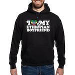 I Love My Ethiopian Boyfriend Hoodie (dark)