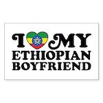 I Love My Ethiopian Boyfriend Sticker (Rectangle)