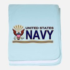 US Navy Eagle & Anchor baby blanket