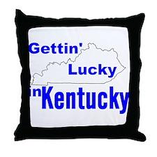 Getting Lucky In Kentucky Throw Pillow