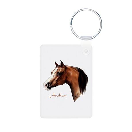 Bay Arabian Horse Aluminum Photo Keychain