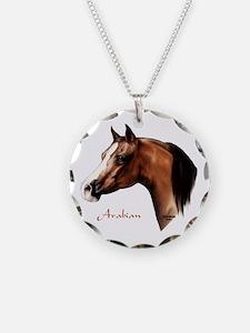 Bay Arabian Horse Necklace