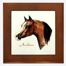 Bay Arabian Horse Framed Tile