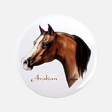 """Bay Arabian Horse 3.5"""" Button"""
