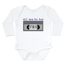 Will Work For Food Long Sleeve Infant Bodysuit