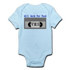 Will Work For Food Infant Bodysuit